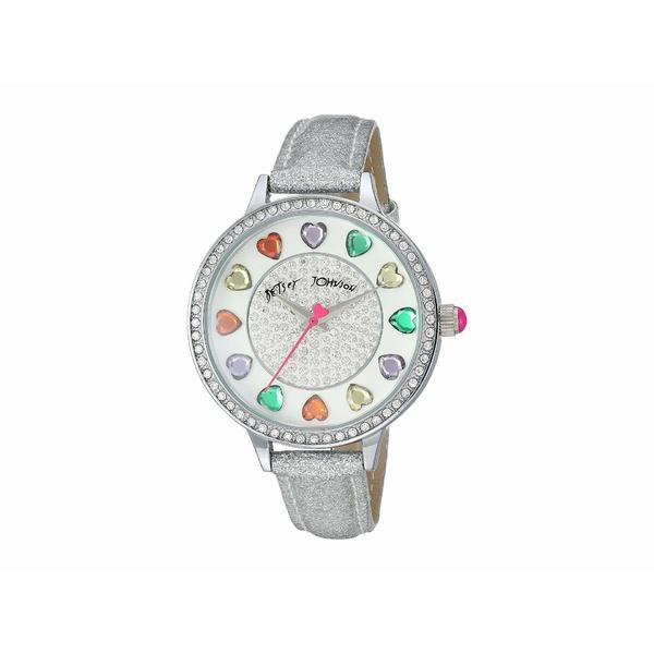 ベッツィジョンソン レディース 腕時計 アクセサリー Rainbow Heart Crystals Watch Silver