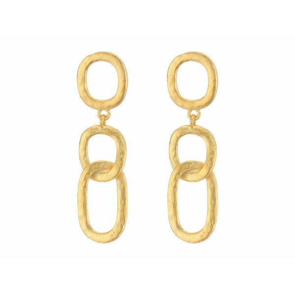 ケネスジェイレーン レディース ピアス&イヤリング アクセサリー Open Link Drop Pierced Earrings Satin Gold