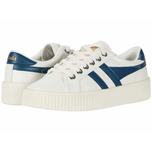 ゴラ レディース スニーカー シューズ Baseline Mark Cox Leather Off-White/Vintage Blue