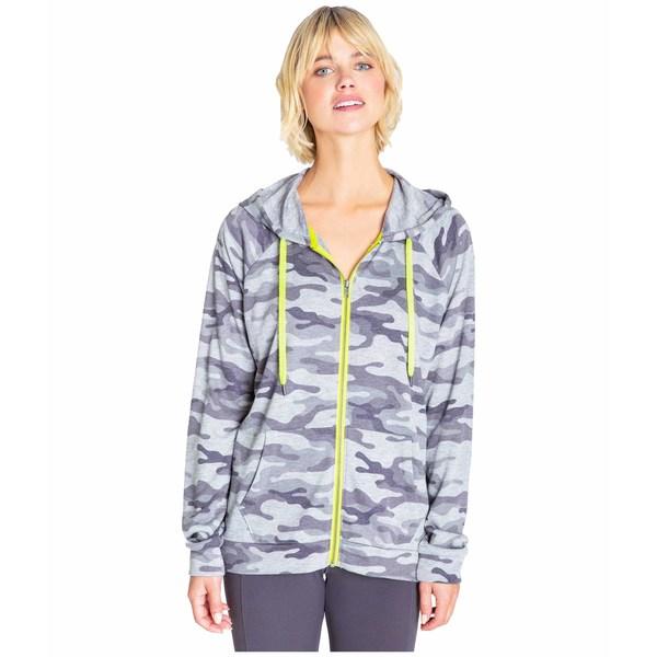 ピージェイサルベージ レディース パーカー・スウェットシャツ アウター Neon Pop Zip Sweatshirt Grey