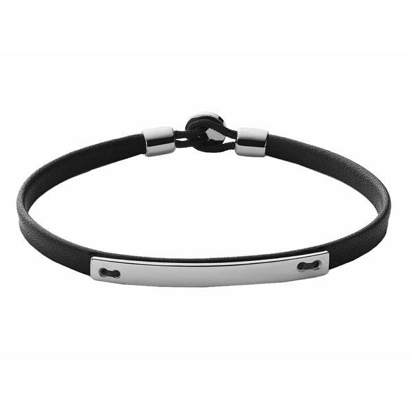 ミアンサイ メンズ ブレスレット・バングル・アンクレット アクセサリー Nexus ID Leather Bracelet Black