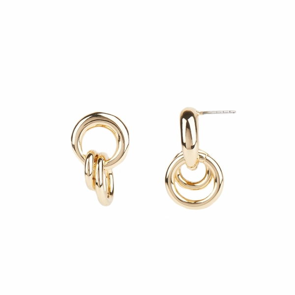 レベッカミンコフ レディース ピアス&イヤリング アクセサリー Duo Ring Cluster Post Earrings Gold