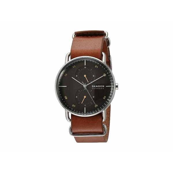 スカーゲン メンズ 腕時計 アクセサリー Horizont Multifunction Watch SKW6537 Silver Brown Leather