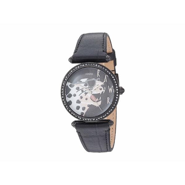 フォッシル レディース 腕時計 アクセサリー Lyric Three-Hand Watch ES4710 Black Black Leather