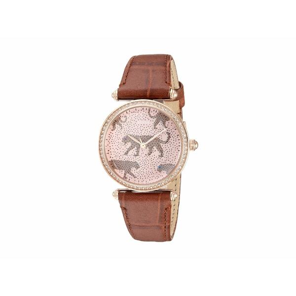 フォッシル レディース 腕時計 アクセサリー Lyric Three-Hand Watch ES4683 Rose Gold Brown Croco Leather