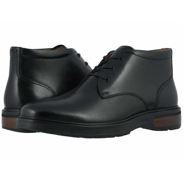 フローシャイム メンズ ブーツ&レインブーツ シューズ Astor Plain Toe Chukka Boot Black Smooth/Black Sole