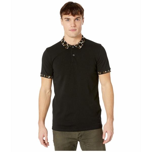 ヒューゴボス メンズ シャツ トップス Pixl Polo Black