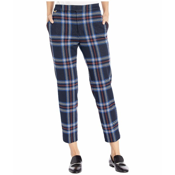 ラルフローレン レディース カジュアルパンツ ボトムス Stretch Plaid Ponte Straight Pants Lauren Navy/Multi