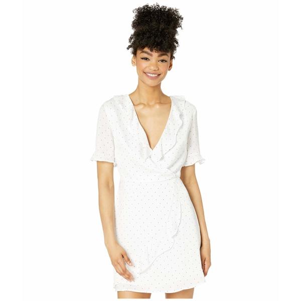 BCBジェネレーション レディース ワンピース トップス Wrap Dress - TQI6289928 Optic White