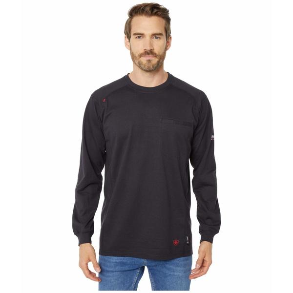 アリアト メンズ シャツ トップス FR Air Crew T-Shirt Black