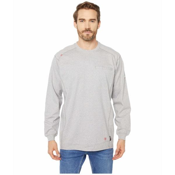 アリアト メンズ シャツ トップス FR Air Crew T-Shirt Silver Fox Heather