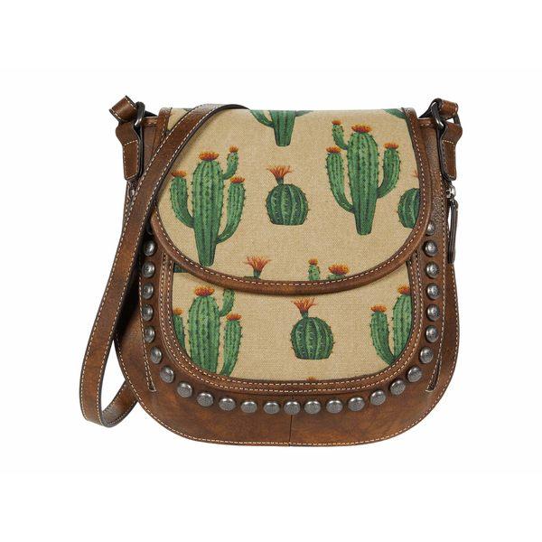 エムエフウエスターン レディース ハンドバッグ バッグ Desert Messenger Crossbody Brown/Cream/Cactus