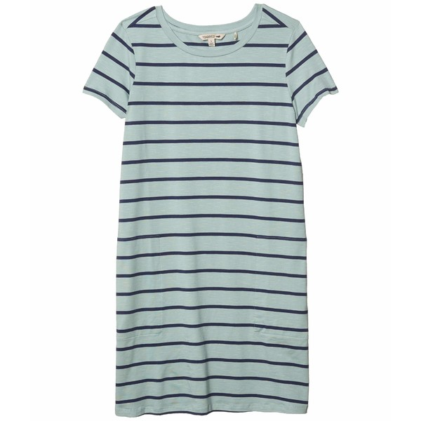 ドード アンドコー レディース ワンピース トップス Windmere II Short Sleeve Dress Blue Surf Wide Stripe