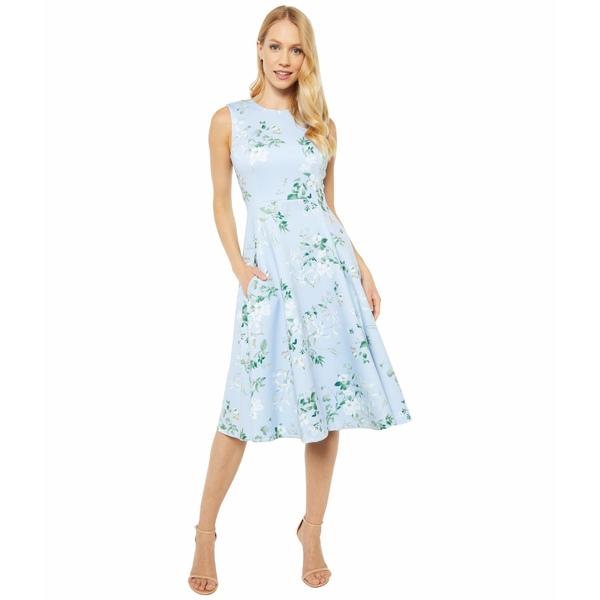 カルバンクライン レディース ワンピース トップス Floral Print A-Line Dress Serene Multi