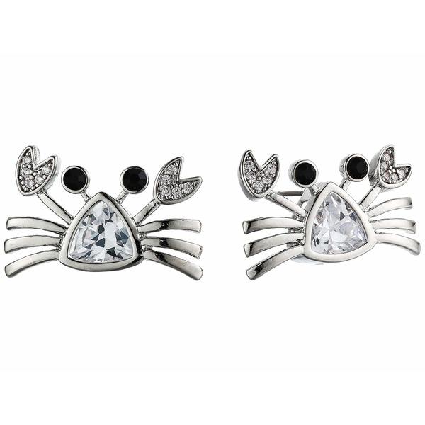 ベッツィジョンソン レディース ピアス&イヤリング アクセサリー CZ Crab Stud Earrings Crystal