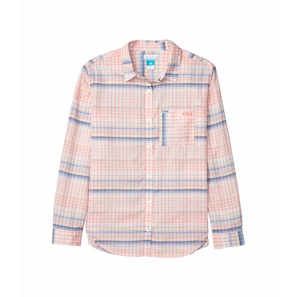 コロンビア レディース シャツ トップス Sun Drifter II Long Sleeve Shirt Lychee Lattitude/Longitude Multi Plaid