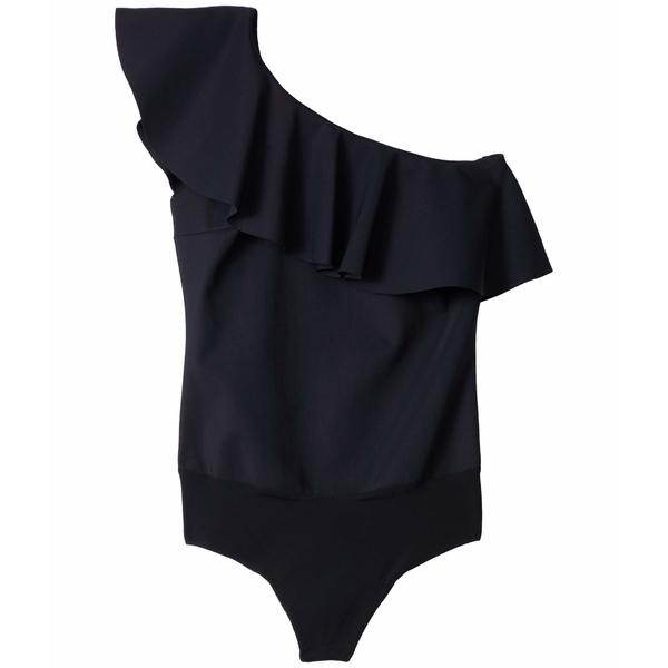 コマンドー レディース シャツ トップス Bonded One Shoulder Ruffle Bodysuit BDS154 Black