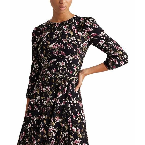 ラルフローレン レディース ワンピース トップス Felia with Sleeves Dress Black/Pink/Multi