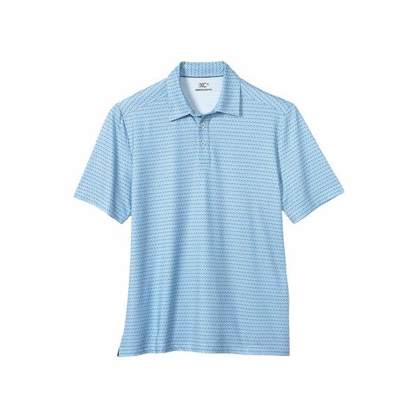 ジョンストンアンドマーフィー メンズ シャツ トップス XC4 Golf Club Polo Blue