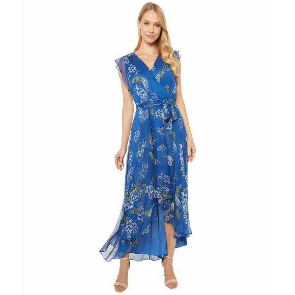 ヴィンスカムート レディース ワンピース トップス Ruffled Sleeveless Weeping Willows Tie Wrap Dress Dusk Blue