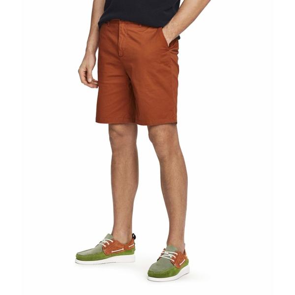 スコッチアンドソーダ メンズ ハーフ&ショーツ ボトムス Mid Length - Classic Chino Shorts in Pima Cotton Quality Tabacco