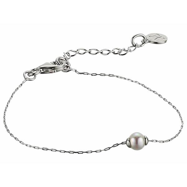 マジョリカ レディース ブレスレット・バングル・アンクレット アクセサリー 5 mm Mini Round Pearl Bracelet White