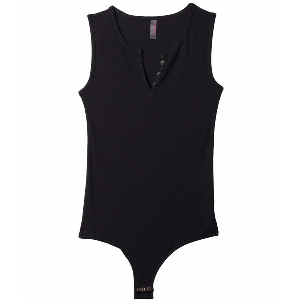コマンドー レディース シャツ トップス Luxury Rib Henley Bodysuit RIB401 Black