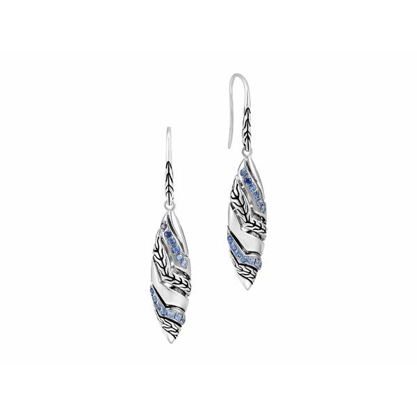 ジョン・ハーディー レディース ピアス&イヤリング アクセサリー Lahar Marquise Drop Earrings Sterling Silver
