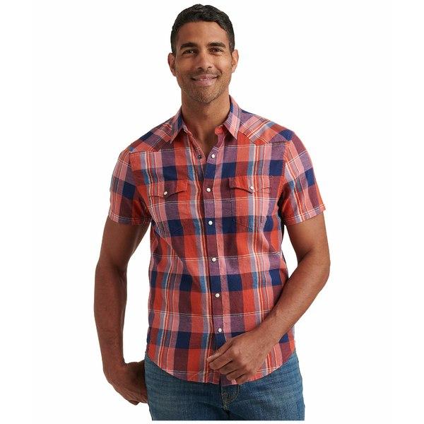 ラッキーブランド メンズ シャツ トップス Short Sleeve Mesa Western Shirt Red Plaid