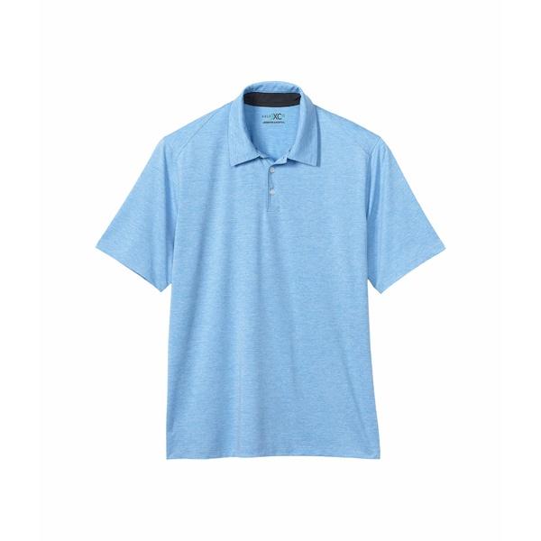 ジョンストンアンドマーフィー メンズ シャツ トップス Solid Golf Polo Blue