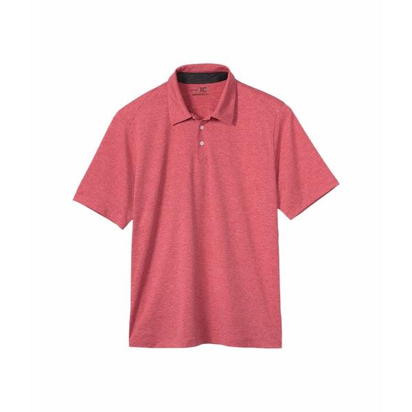 ジョンストンアンドマーフィー メンズ シャツ トップス Solid Golf Polo Red