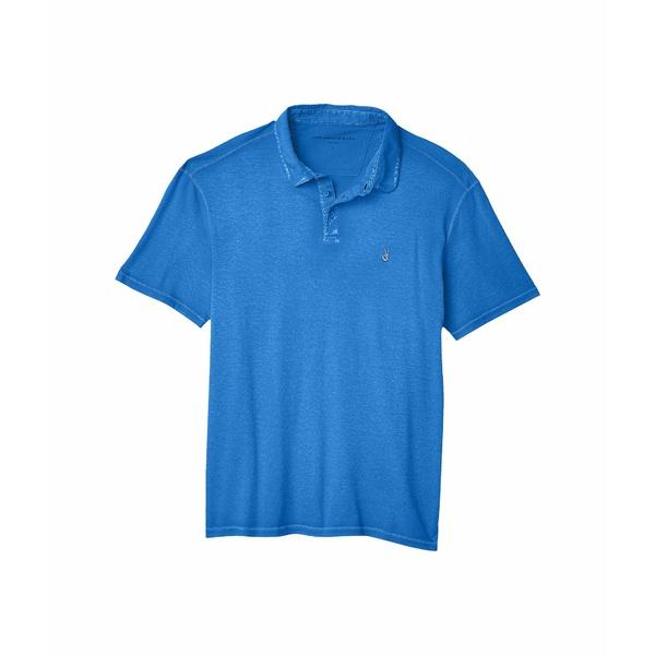 ジョンバルバトス メンズ シャツ トップス Knoxville Pigment Rub Peace Polo K1381W1B Ocean Blue