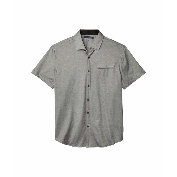 ヴィンスカムート メンズ シャツ トップス Short Sleeve Sport Shirt with Hacking Pocket Grey Solid