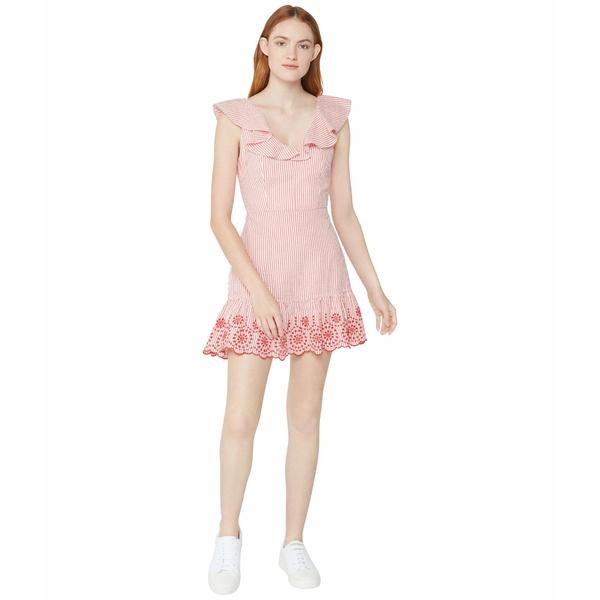 BCBジェネレーション レディース ワンピース トップス Embroidered Ruffle Dress - TSS6278147 Cherry