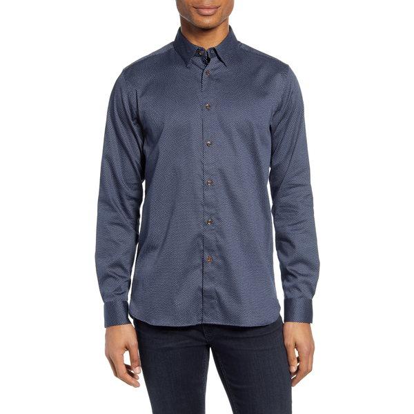 テッドベーカー メンズ シャツ トップス Tillnow Button-Up Shirt Navy