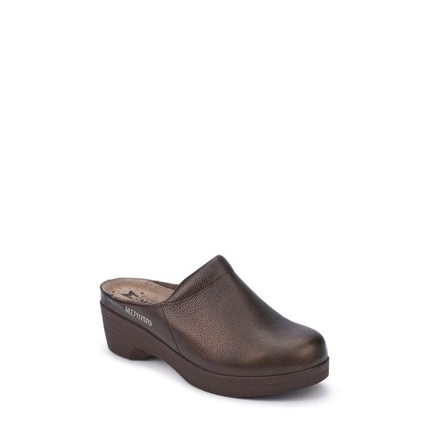メフィスト レディース サンダル シューズ Satty Clog Mule Bronze Leather