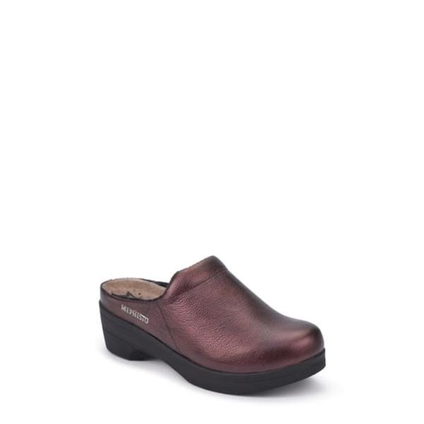 メフィスト レディース サンダル シューズ Satty Clog Mule Chianti Red Leather