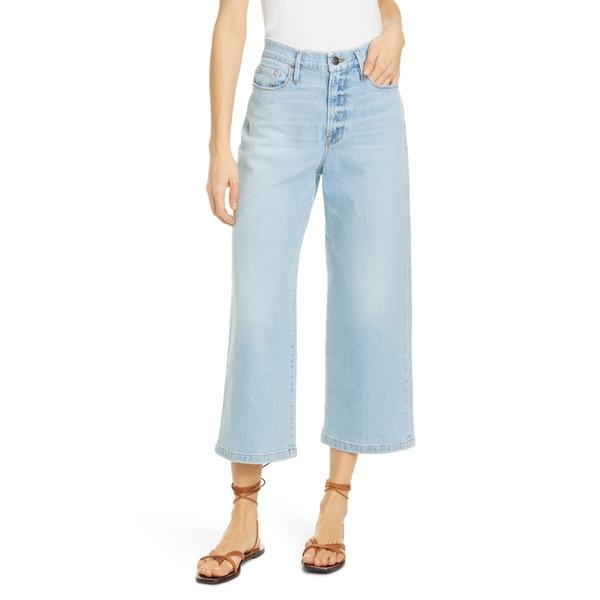 フレーム レディース デニムパンツ ボトムス Ali High Waist Crop Wide Leg Jeans Redondo