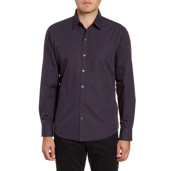 ザッカリープレル メンズ シャツ トップス McCune Regular Fit Dobby Button-Up Sport Shirt Navy