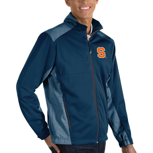 アンティグア メンズ ジャケット&ブルゾン アウター Syracuse Orange Antigua Revolve Full-Zip Jacket Navy