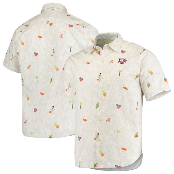 トッミーバハマ メンズ シャツ トップス Texas A&M Aggies Tommy Bahama College Beach-Cation Button-Up Shirt White