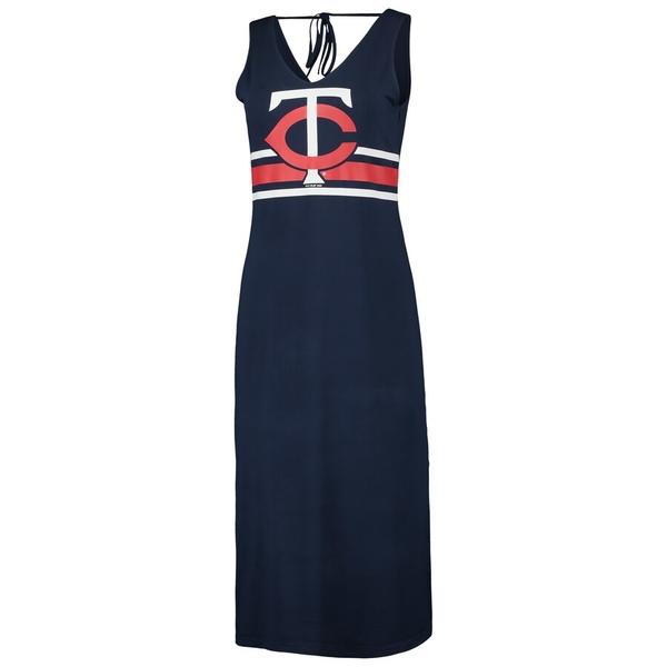 カールバンクス レディース ワンピース トップス Minnesota Twins G-III 4Her by Carl Banks Women's Opening Day Maxi Dress Navy/Red