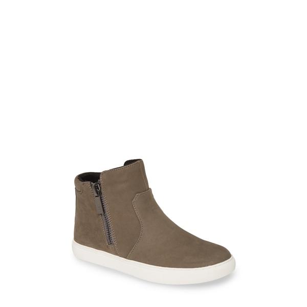 ケネスコール レディース スニーカー シューズ 'Kiera' Zip High Top Sneaker Cement Nubuck Leather