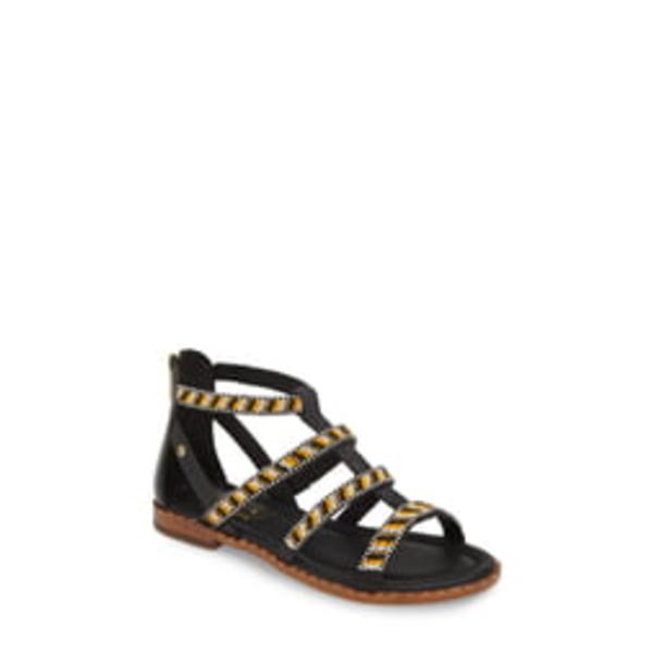 ピコリーノス レディース サンダル シューズ Algar Beaded Gladiator Sandal Black Leather