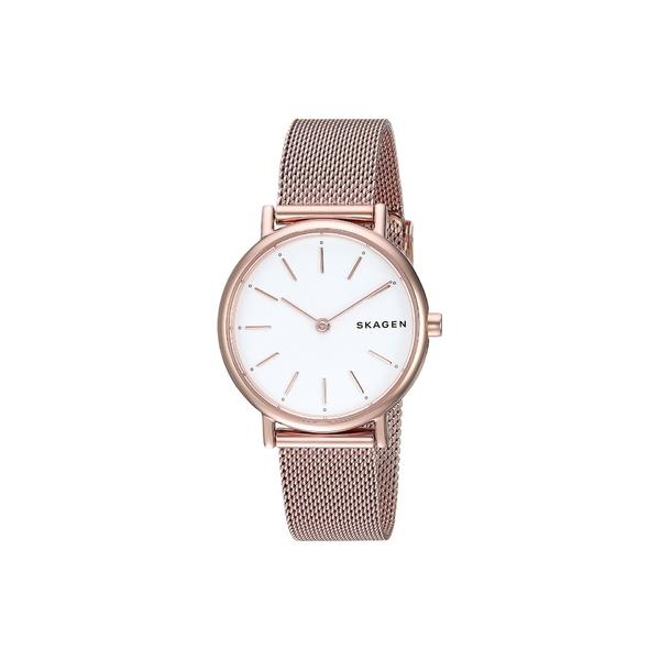スカーゲン レディース 腕時計 アクセサリー Signatur Slim Two-Hand Watch SKW2694 Rose Gold Stainless Steel Mesh