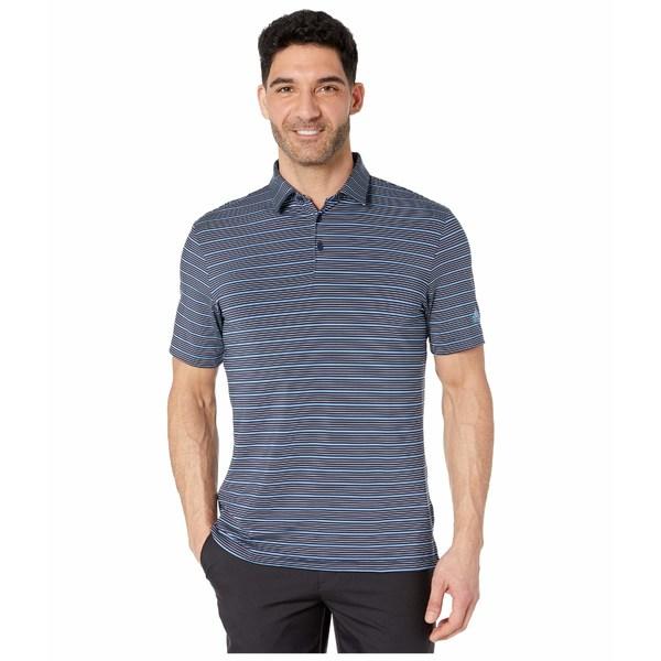 アディダス メンズ シャツ トップス Ultimate365 Pencil Stripe Polo Shirt Collegiate Navy/Sky Tint/Light Blue