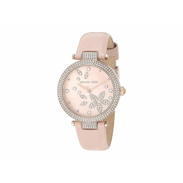 マイケルコース レディース 腕時計 アクセサリー Parker Three-Hand Leather Watch Pink