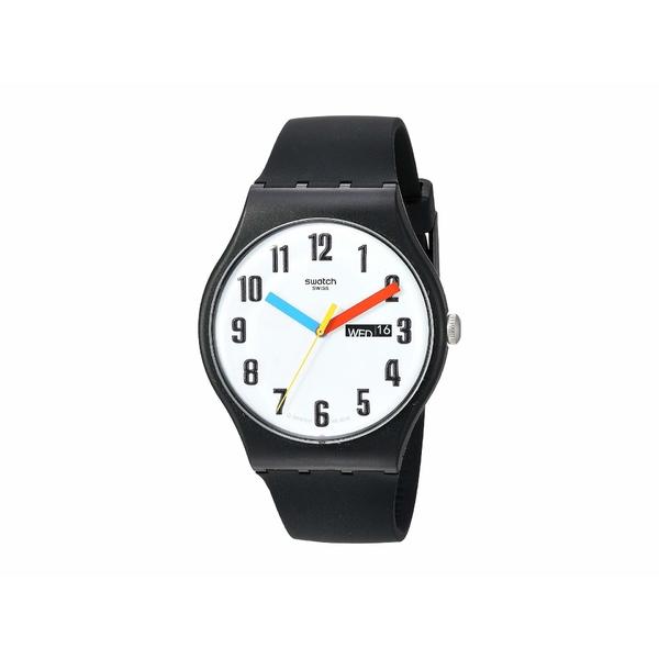 スワッチ メンズ 腕時計 アクセサリー Elementary - SUOB728 Black