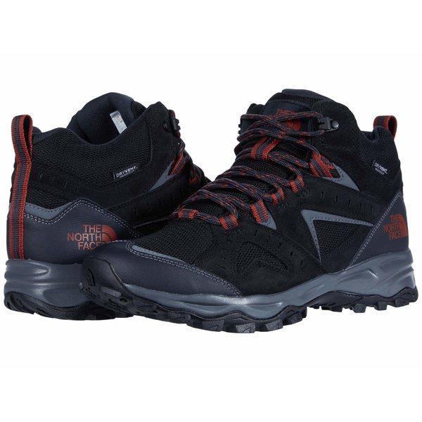 ノースフェイス メンズ ブーツ&レインブーツ シューズ Trail Edge Mid Waterproof Asphalt Grey/Picante Red