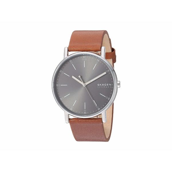 スカーゲン メンズ 腕時計 アクセサリー Signatur Three-Hand Men's Watch SKW6578 Silver Brown Leather